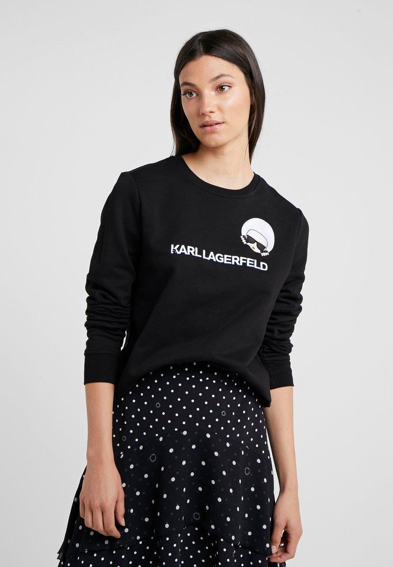 KARL LAGERFELD - DOTS IKONIK  - Sweatshirts - black