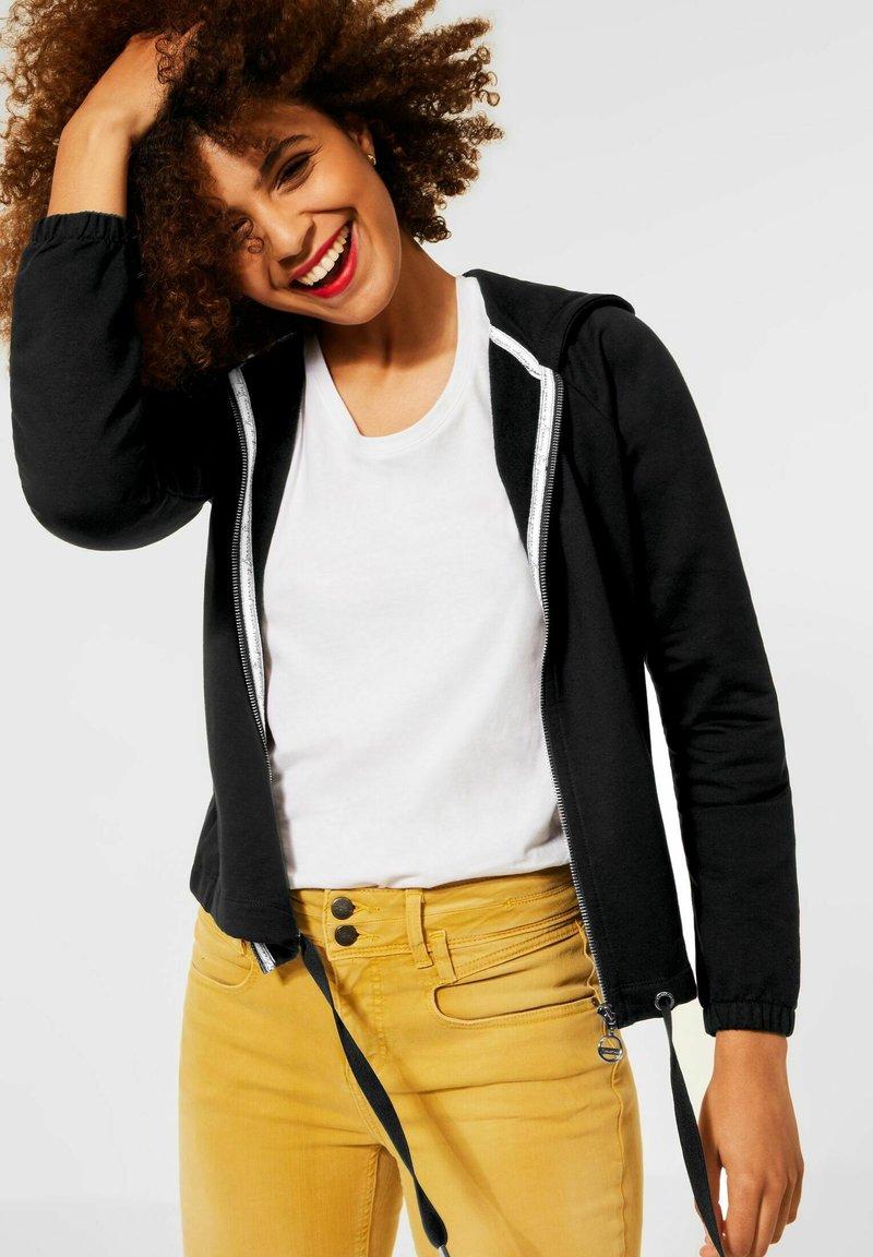 Street One - Zip-up sweatshirt - schwarz