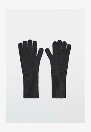 AUS WOLLE UND KASCHMIR  - Gloves - black
