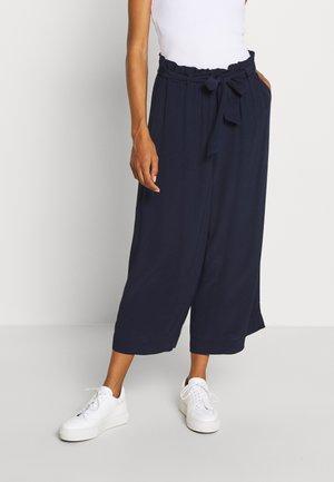 PANTS WIDE LEG BELT - Spodnie materiałowe - scandinavian blue