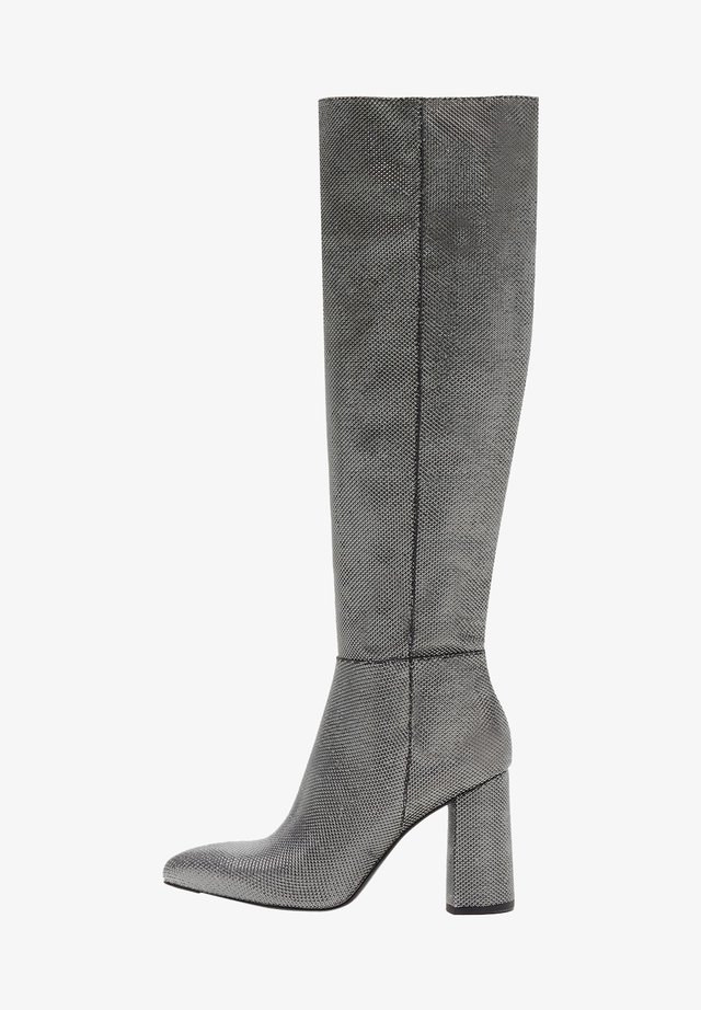 AMALIA - High heeled boots - silber