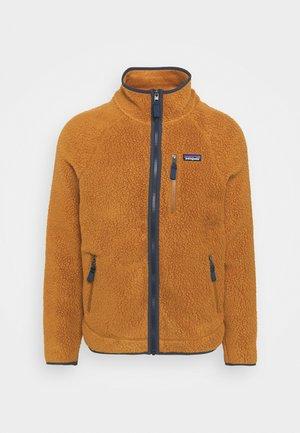 RETRO PILE - Fleece jacket - dunkelbraun
