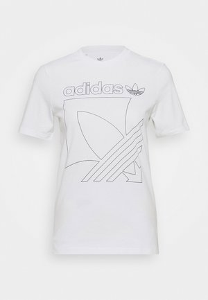 BADGE TEE - T-shirt z nadrukiem - white