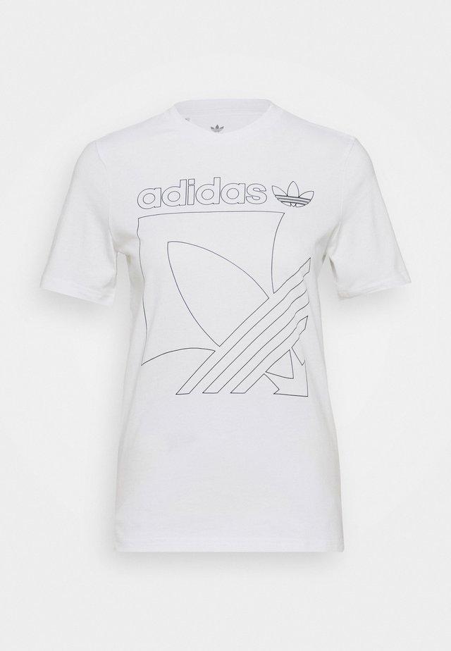 BADGE TEE - T-shirt imprimé - white