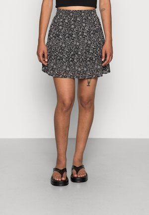 ONLSTAR SHORT SKIRT - A-line skirt - black/little charm