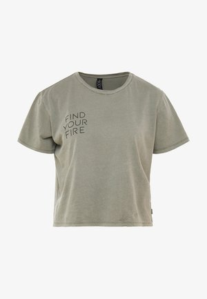ACTIVE PLACEMENT - Print T-shirt - steely shadow