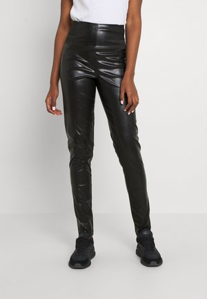HIGH WAISTED FITTED TROUSERS - Pantalones - black