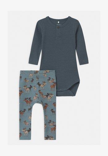 NBMRICHARD SET - Leggings - Trousers - dark slate