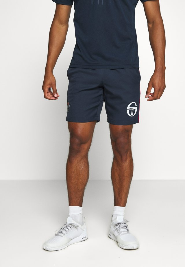 FIGURE STAFF SHORTS - Pantalón corto de deporte - navy/red