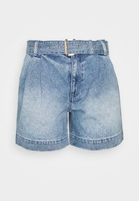 MICHAEL Michael Kors - PLEATED BELTED - Denim shorts - blue denim - 0