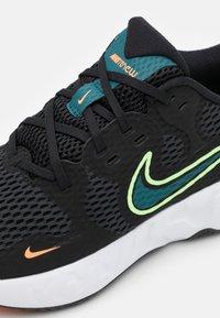 Nike Performance - RENEW RIDE 2 - Neutrala löparskor - black/lime glow/dark teal green/white - 5
