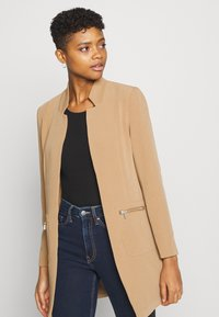 ONLY - ONLLINEA MIRIAM ZIP COATIGAN  - Manteau court - tigers eye - 3