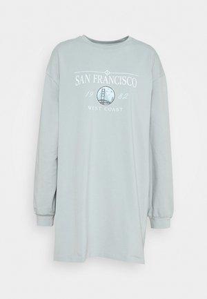 LONGLINE SAN FRAN SLOGAN OVERSIZED TEE - Pyžamový top - blue
