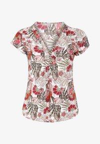 Paprika - MIT FARBIGEM ETHNO-PRINT - Print T-shirt - khaki - 0