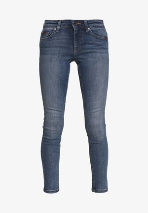 ONLFCARMEN DECO STITCH - Skinny džíny - medium blue denim
