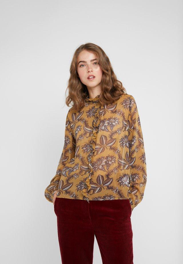 MARTIN - Button-down blouse - ambre