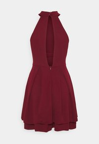 WAL G. - CHERYL HALTER NECK SKATER DRESS - Cocktail dress / Party dress - wine - 1