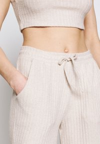 Topshop - COSY BRUSHED SET - Tracksuit bottoms - stone - 8
