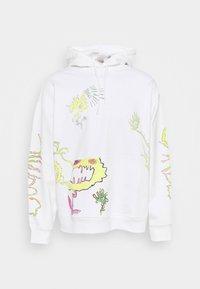 Weekday - YARROW HOODIE UNISEX  - Sweatshirt - white - 5