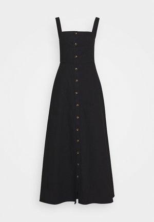 BUTTON DOWN DRESS - Shirt dress - black