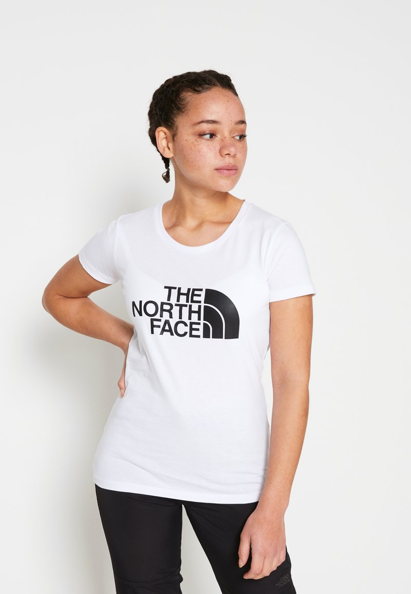 The North Face - WOMENS EASY TEE - Print T-shirt - white/black
