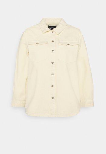PCGRAY SHACKET - Denim jacket - almond oil