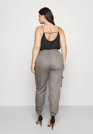 PLUS SIZE PLAIN TROUSER - Cargo trousers - grey