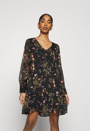 V-NECK DRESS  - Robe d'été - black