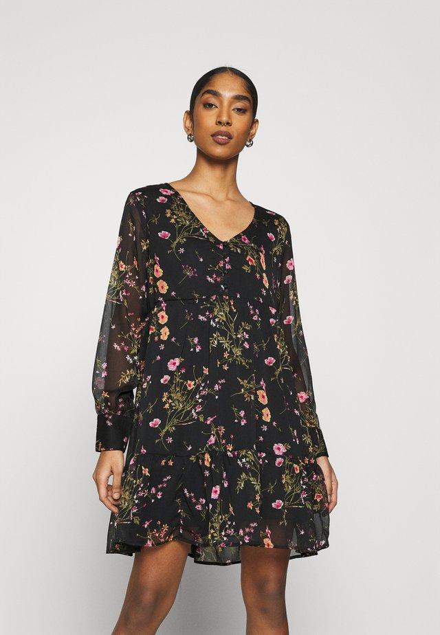 V-NECK DRESS  - Vapaa-ajan mekko - black