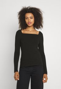Forever New - SALLY SQUARE NECK - Long sleeved top - black - 0