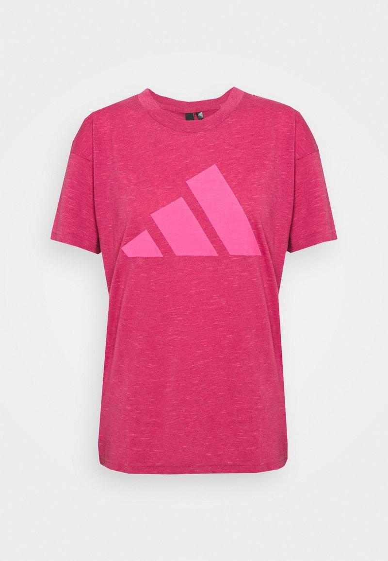 adidas Performance - WIN 2.0 TEE - T-shirt imprimé - berry