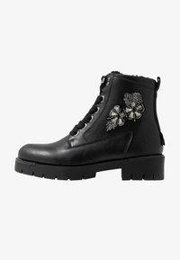 JETTE - Platform ankle boots - black - 1