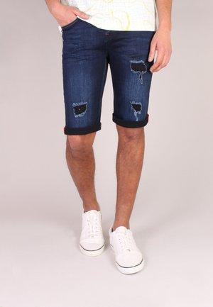 Denim shorts - d blue destroyed