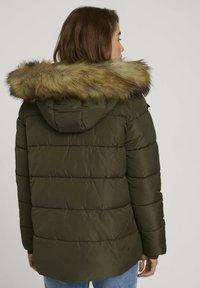 TOM TAILOR DENIM - Winter jacket - deep olive green - 2
