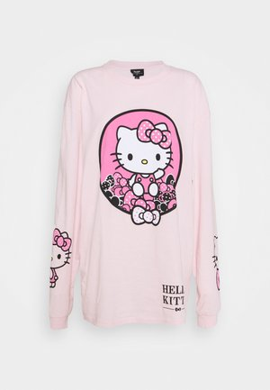 SLEEVE PRINT - Long sleeved top - pink