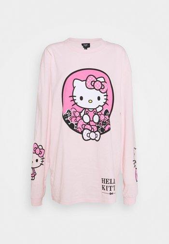 SLEEVE PRINT - Long sleeved top - pink