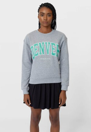 MIT SCHRIFTZUG - Sweatshirts - grey