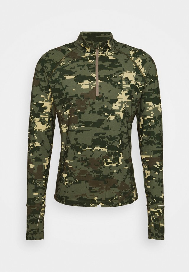MIDLAYER HALF ZIP - Long sleeved top - digital woodland/duck green