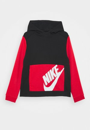 Hoodie - black/university red/white