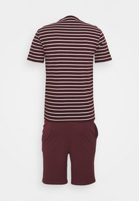 Pier One - Pyjamas - bordeaux/white - 1