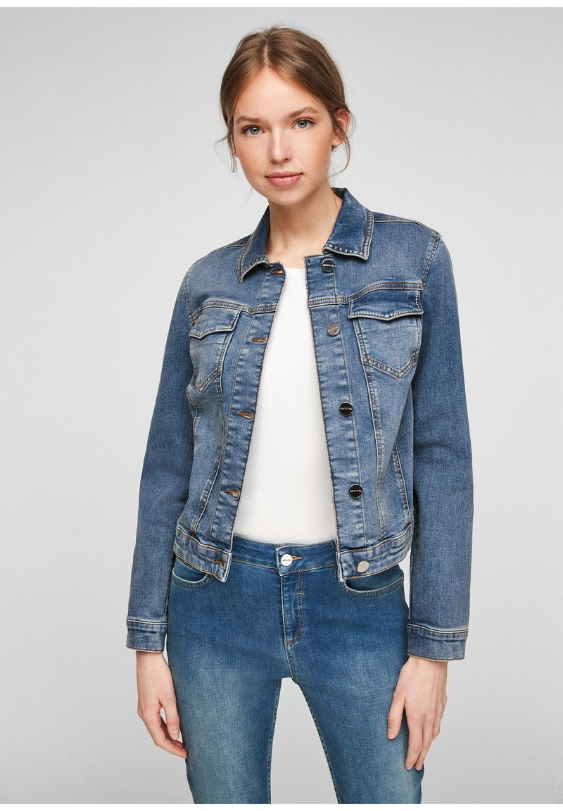 comma - Denim jacket - blue