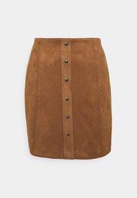 Re.draft - SUEDE SKIRT - Mini skirt - cinnamon - 0