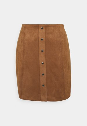 SUEDE SKIRT - Mini skirt - cinnamon