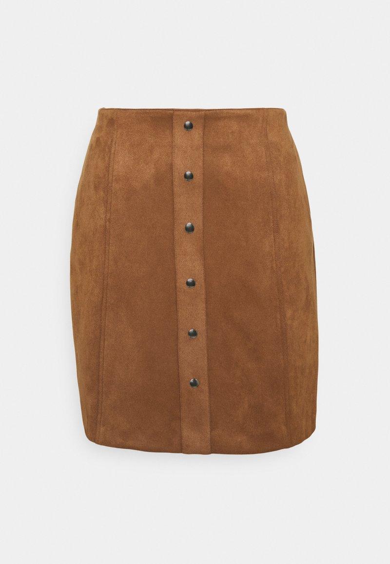 Re.draft - SUEDE SKIRT - Mini skirt - cinnamon