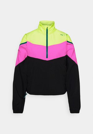 TRAIN FIRST MILE XTREME JACKET - Kurtka sportowa - fizzy yellow/luminous pink /black