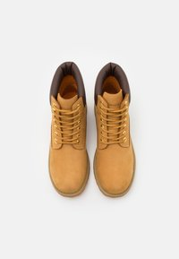 Lumberjack - RIVER - Lace-up ankle boots - yellow/dark brown - 3