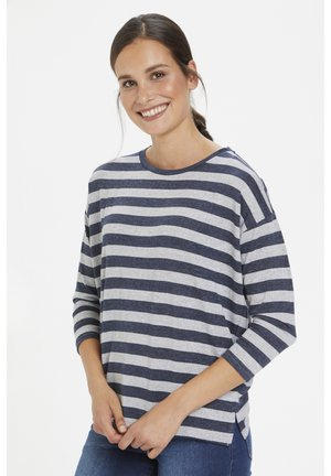 KABEATE - Long sleeved top - midnight / grey melange stripe
