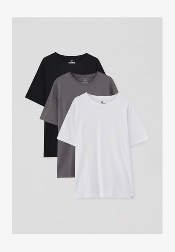 3 PACK - T-shirt - bas - white