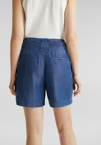 Esprit - PAPERBAG SHORT - Shorts - blue dark wash - 1