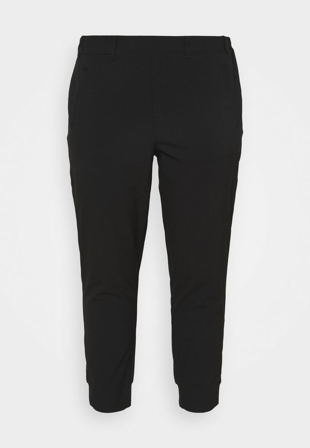 KCHAN PANTS - Kangashousut - black deep
